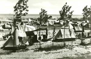 Historisches Foto vom Campingplatz